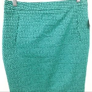 Halogen Skirts - Halogen Pencil Skirt with Pockets Triangle Print